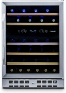 New Air AWR-460DB 46 Bottle Built In Dual Zone Compressor Wine Cooler