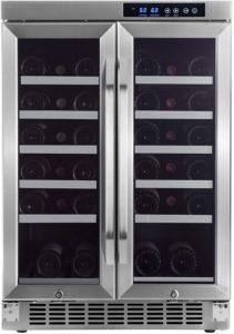 Edge Star 36 Bottle Built-In Dual Zone French Door Wine Cooler