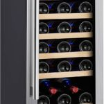 "Kalamera 15"" Wine Refrigerator 30 Bottle Built-In Single Zone with Touch Control"