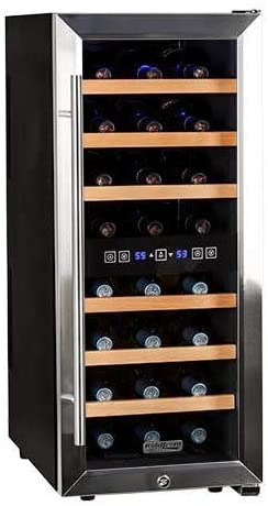Koldfront 24 Bottle Free Standing Dual Zone Wine Cooler