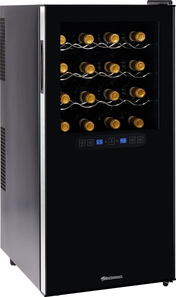 Wine Enthusiast Silent 32 Bottle Touchscreen Wine Refrigerator